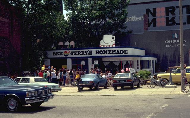 A Ben & Jerry's anno