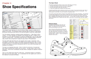learn about Shoe Specifications Chapter 4