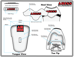 Design detail of shoe spec drawings
