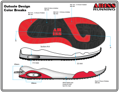 Outsole side profile outsole bottom view
