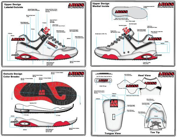 shoe design tech pack