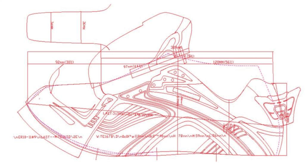 Flat pattern for Shoe