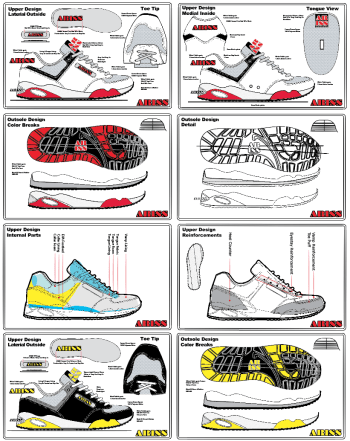 shoe specification drawings
