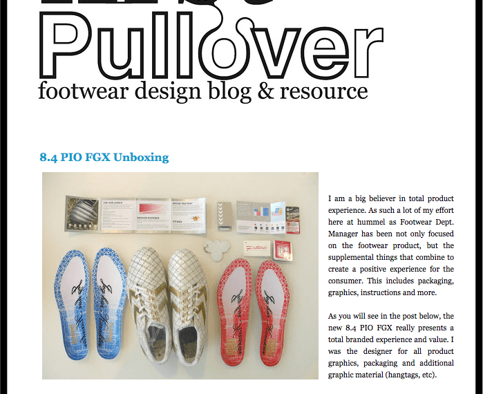 First pullover shoe making blog