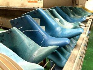 inside a shoe last factory