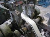 Vulcanized shoe machine - Foxing tape extruder - making Vans Tape