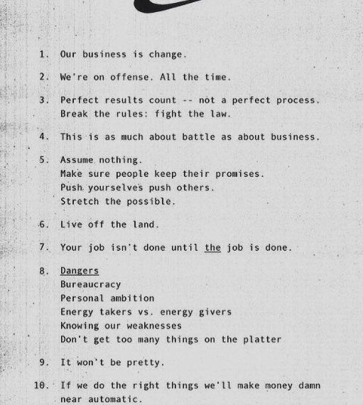 Nike Rules for Shoe design