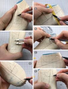 Making a footwear pattern or cutting a footwear pattern