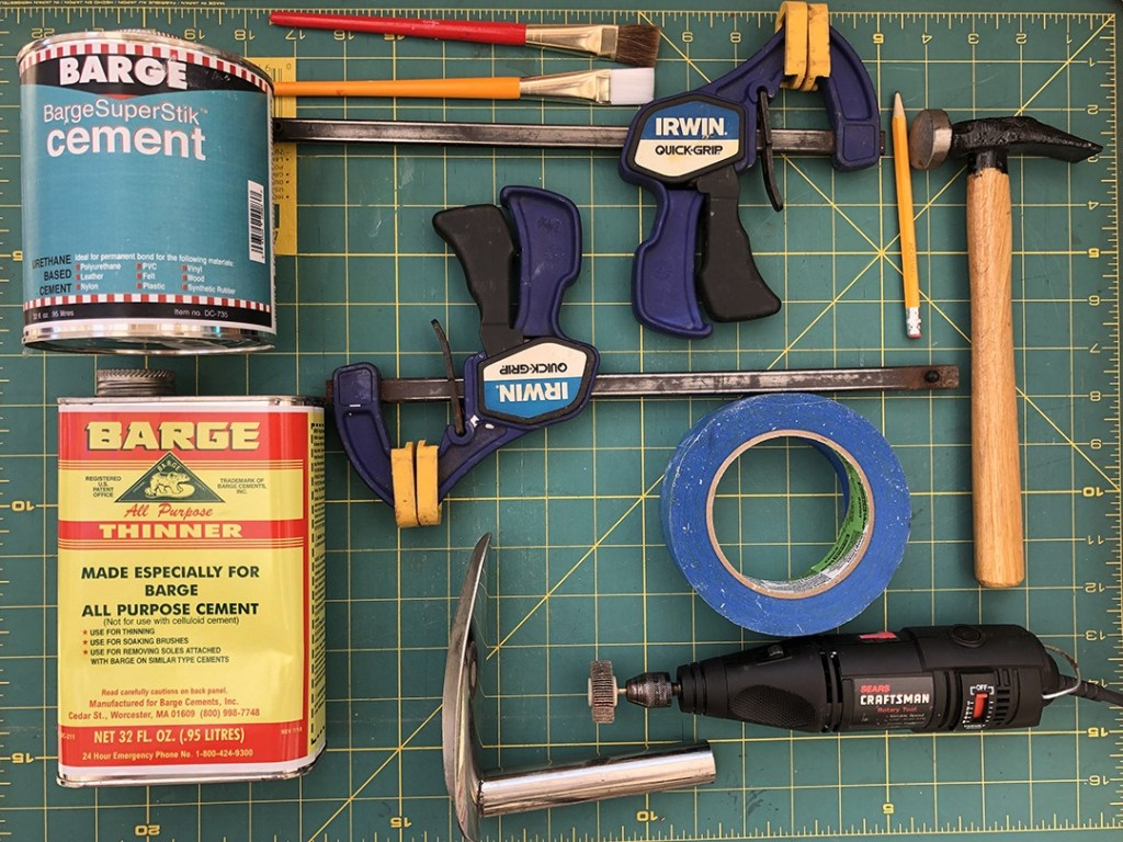 Sneaker sole cementing tools