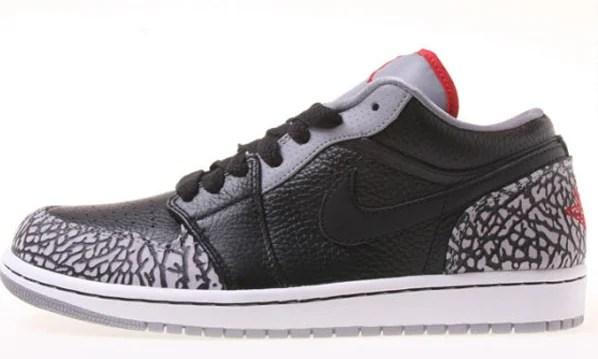 Air Jordan 1 Phat Low - Black / Varsity Red / White / Cement Grey