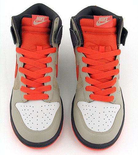 Nike Dunk High - Light Bone / Orange / Brown
