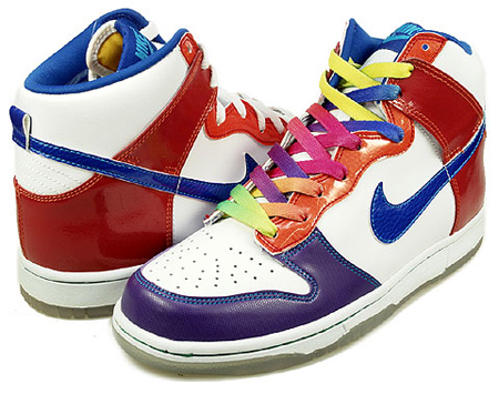 Nike Dunk High Premium ND GS - White / Varsity Royal - Orange Blaze - Varsity Red