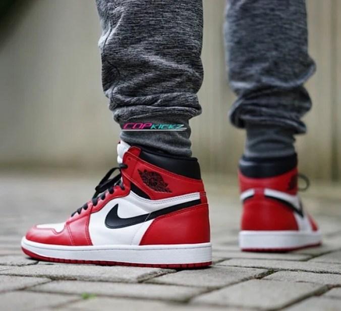 jordan 1 chicago 2015 on feet cheap online