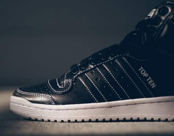 adidas Top Ten Hi Black   SneakerFiles