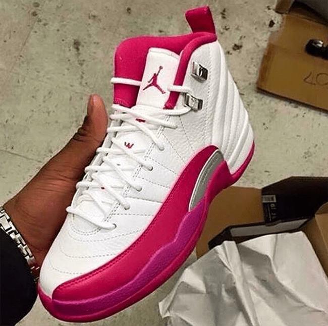 Air Jordan 12 GS White Vivid Pink SneakerFiles