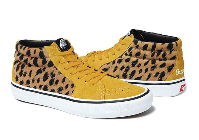 Supreme x Vans SK8-Mid Pro Collection Leopard