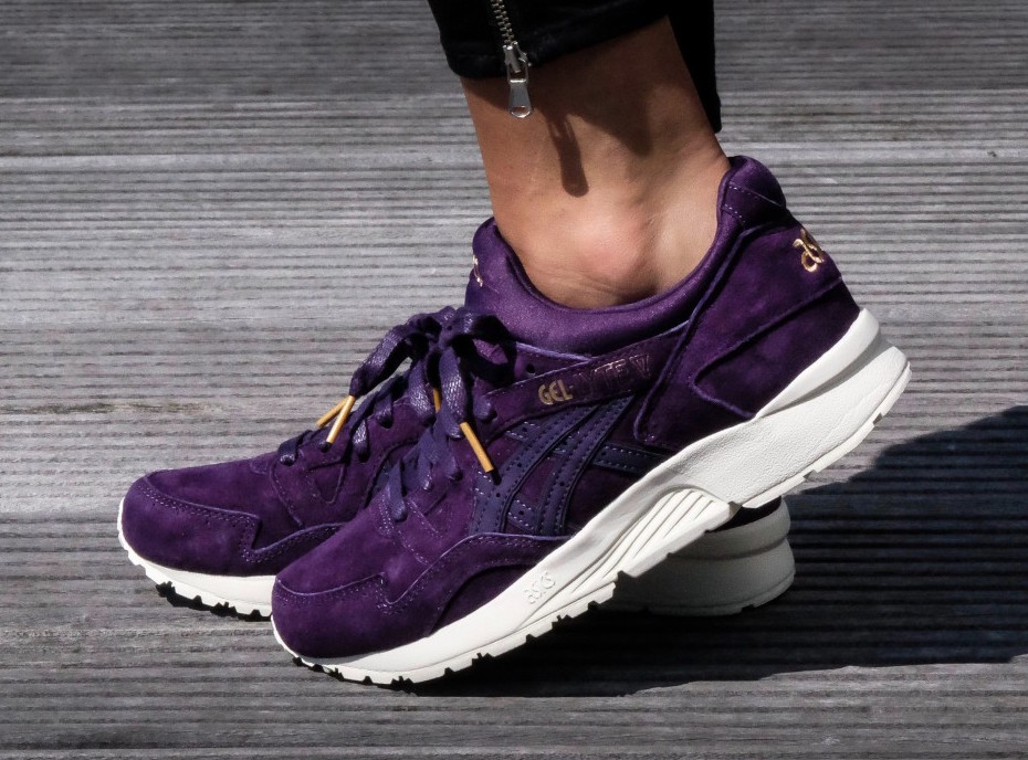 Asics Gel Lyte V Purple Suede Gold
