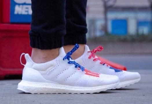 Undefeated adidas Ultra Boost USA 2019 On Feet