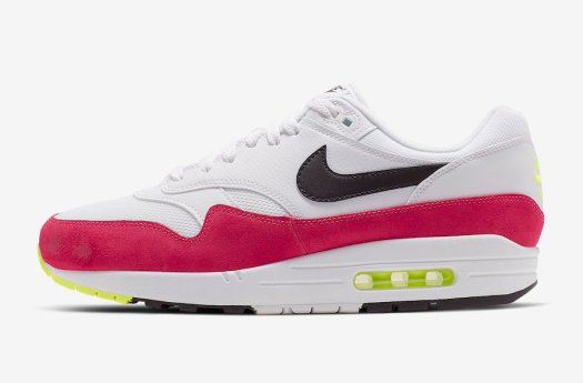 Nike Air Max 1 White Black Volt Rush Pink AH8145-111 Release Date