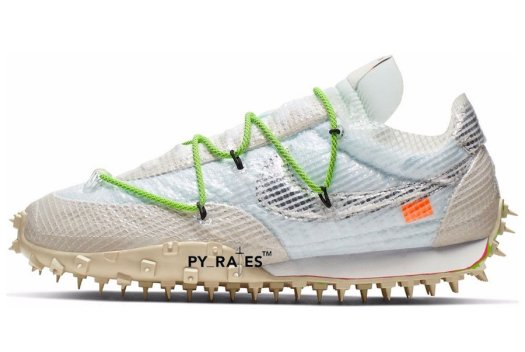 Off-White Nike Waffle Racer White Black Electric Green Release Info
