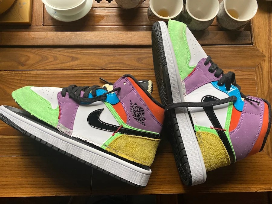 Air Jordan 1 Mid SE Multicolor Lightbulb CW1140-100 Release Date Info
