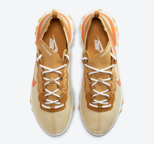 Nike React Element 55 Team Gold Bright Orange CZ3595-781 Release Date Info