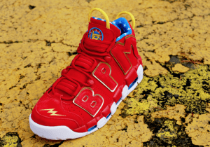 Detailed Look At Brody Millers 1 Of 1 Wonder Woman Red Doernbecher Nike Air More Uptempo!