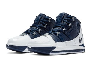 The Nike Zoom Lebron 3 White & Navy Is Rumored To Release This Month!