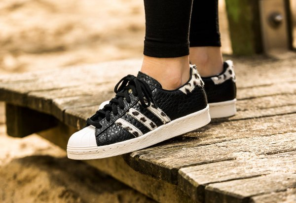 Adidas Superstar 80s Animal Croc Leopard Chalk WhiteCore