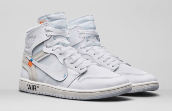 "sepatu OFF-WHITE X AIR JORDAN 1 ""WHITE"""
