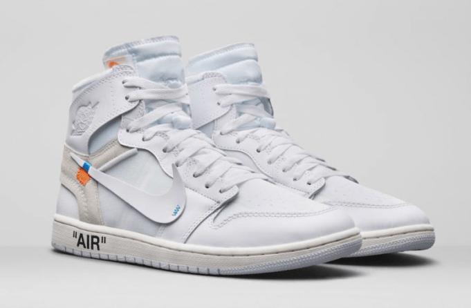 "gambar sepatu OFF-WHITE X AIR JORDAN 1 ""WHITE"""