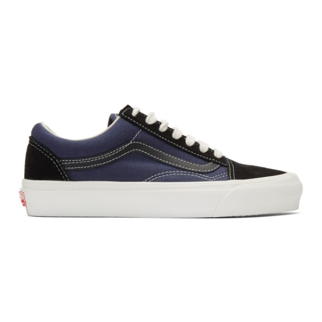 Vans Black and Blue OG Old Skool LX Sneakers
