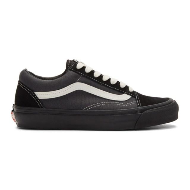 Vans Black and Grey OG Old Skool LX Sneakers
