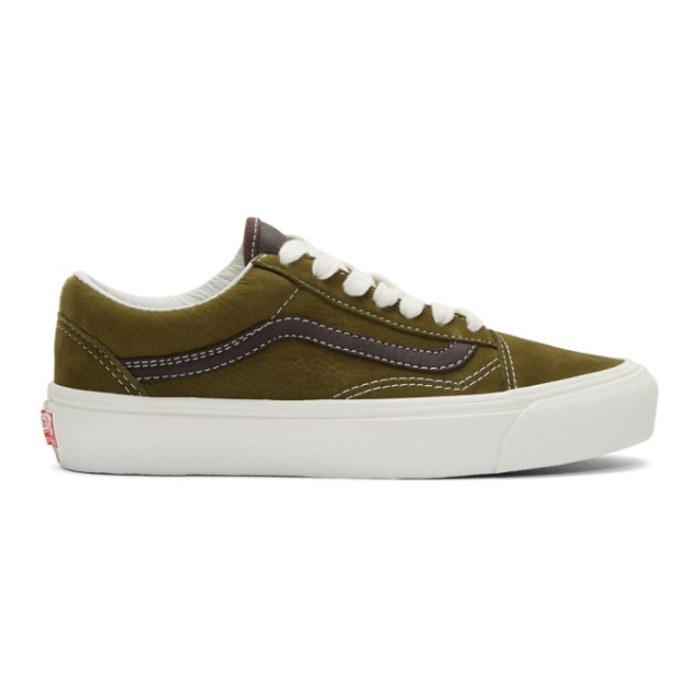 Vans Green and Brown OG Old Skool LX Sneakers