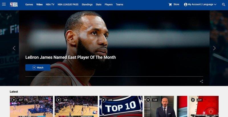 El archivo en vídeo de la NBA