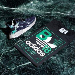 "adidas x sivasdescalzo NMD ""Green Marble"" & Trefoil T-shirt"