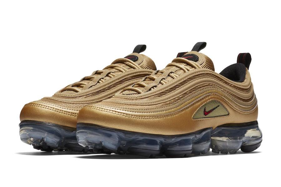 Release Date: Nike Air VaporMax 97 'Metallic Gold'