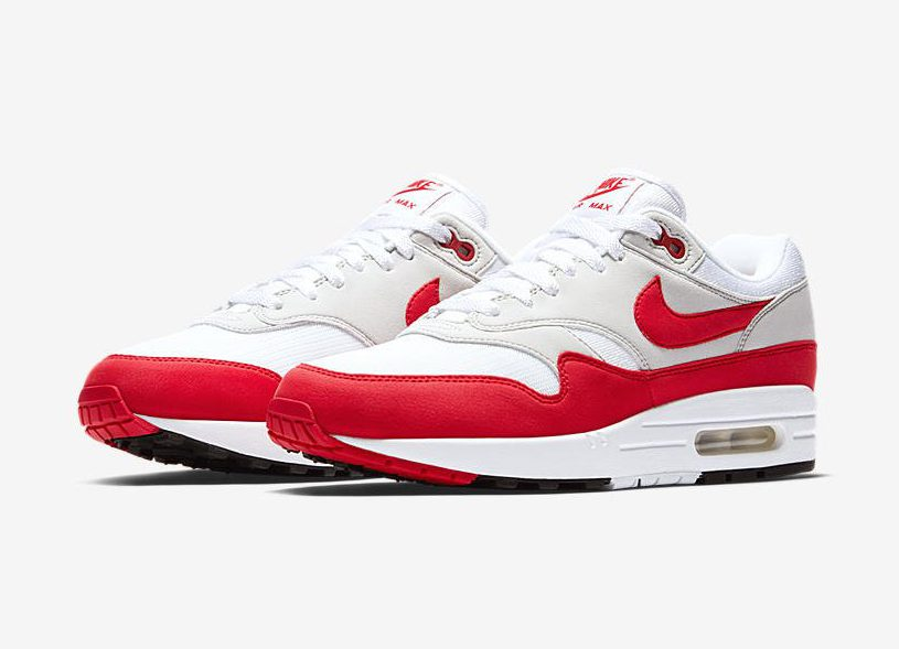 Release Date: Nike Air Max 1 Anniversary 'White/University Red'