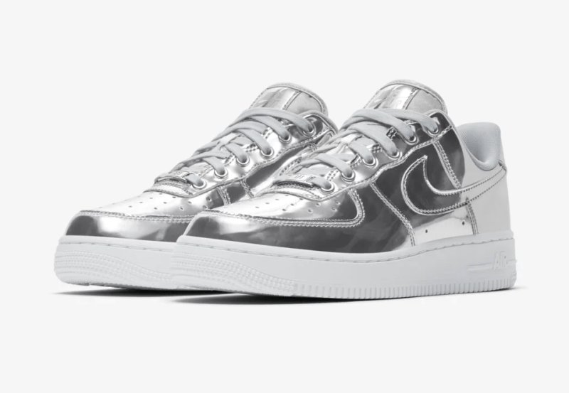 Nike Air Force 1 Metallic Silver