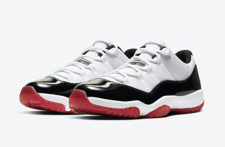Air Jordan 11 Low White/Black/University Red