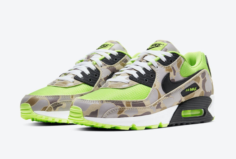 First Look: Nike Air Max 90 'Volt Duck Camo'