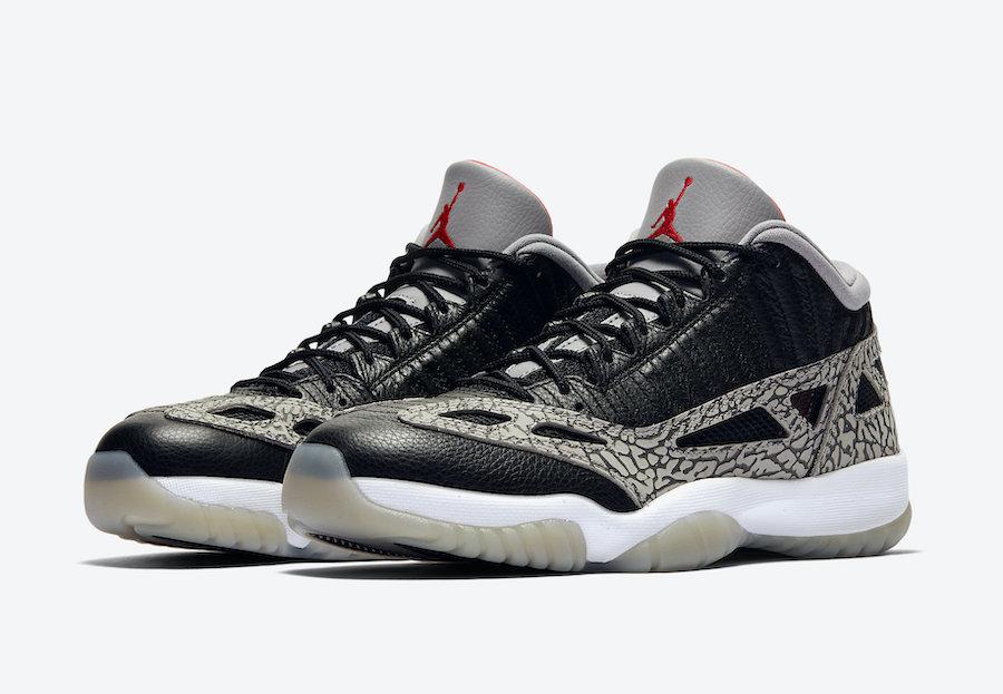 Air Jordan 11 Low IE 'Black/Cement'July 16, 2020