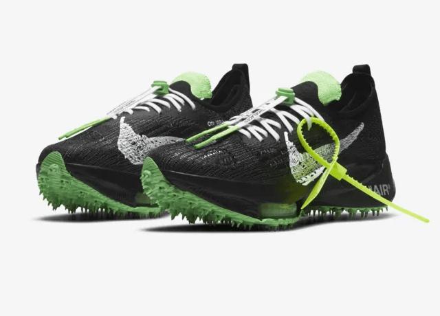Off-White x Nike Air Zoom Tempo NEXT% Black/Scream Green