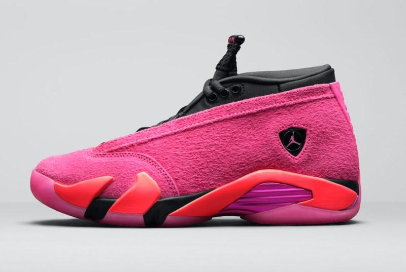 Women's Air Jordan 14 Low Shocking Pink