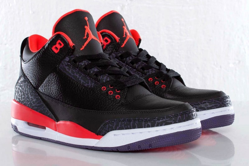 Nike Air Jordan 3 - Bright Crimson