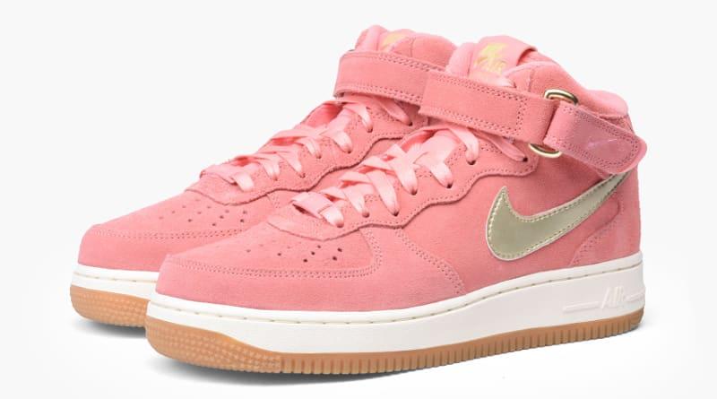 Nike Air Force 1 Bright Melon Metallic Gold