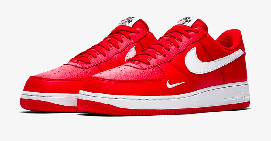 Nike Air Force 1 Mini Swoosh University Red