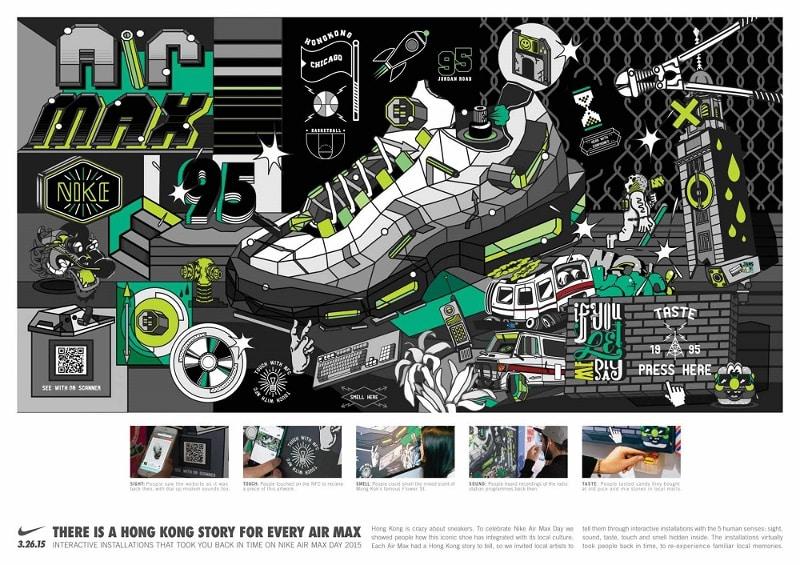 Illustration de la Nike Air Max 95 pour le Air Max Day 2015