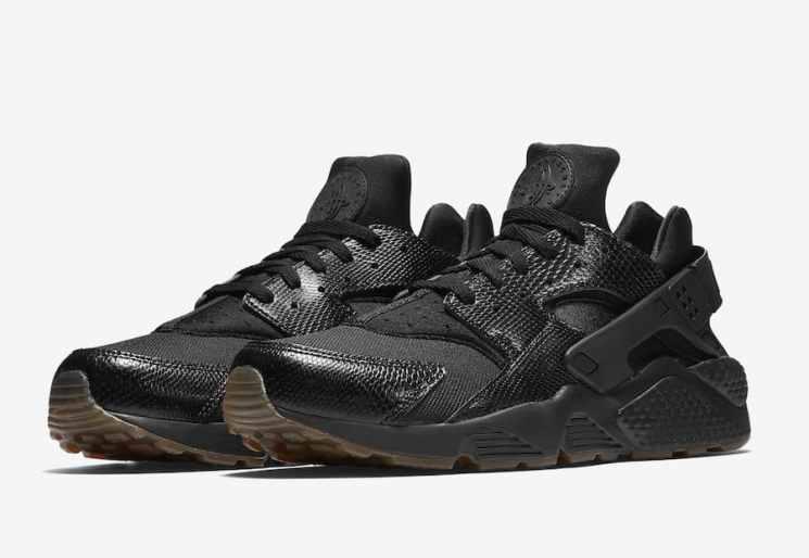 Nike Air Huarache Snakeskin Triple Black