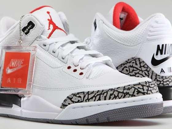 Nike Air Jordan 3 White/Cement Grey